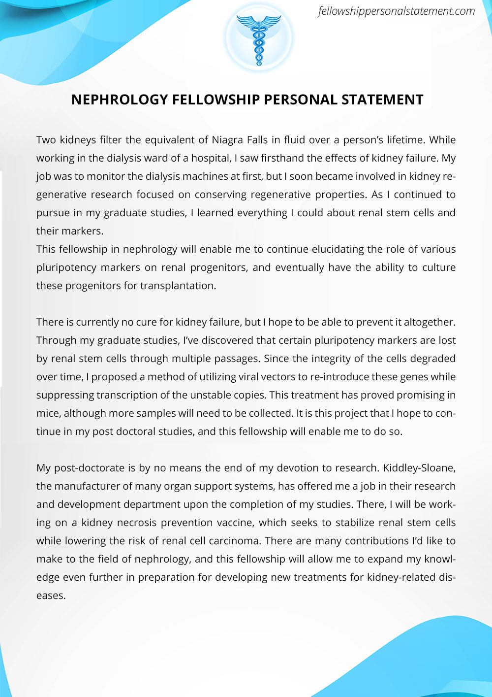 Powerful And Unique Sample Fellowship Personal Statement