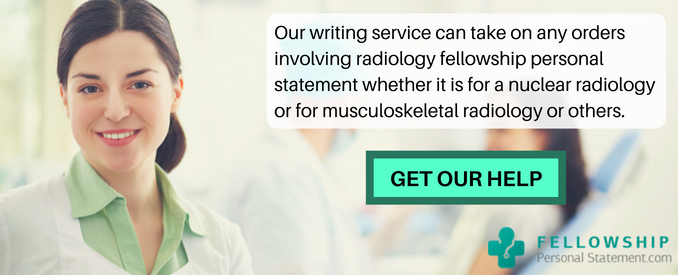musculoskeletal radiology fellowship personal statement