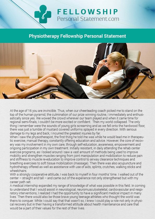Physiotherapy personal statement