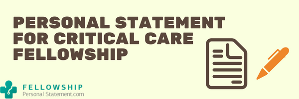 personal statement for critical care fellowship