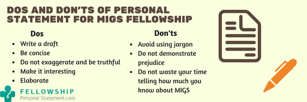 dos and donts of personal statement for migs fellowship