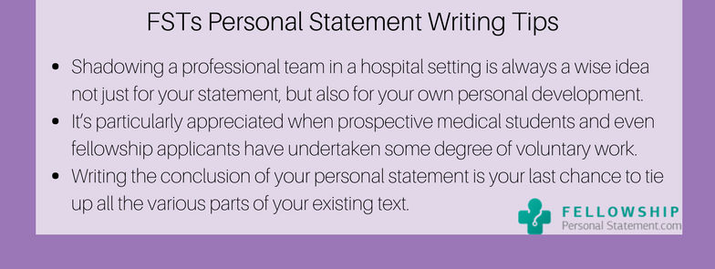 fsts personal statement writing tips