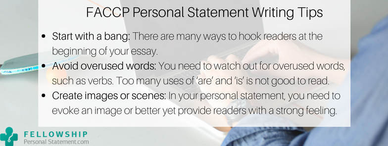 faccp personal statement writing tips