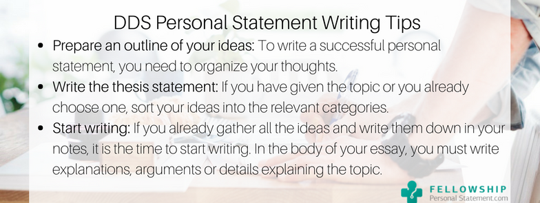 dds personal statement writing tips