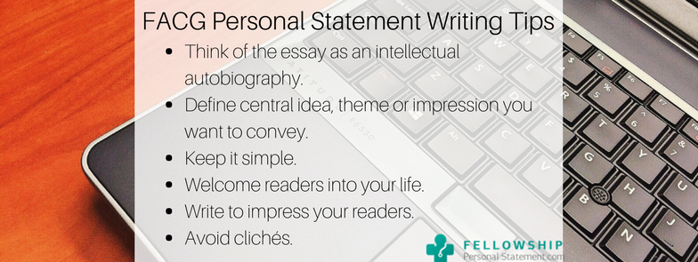 facg personal statement writing tips