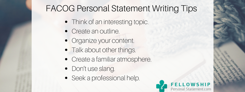 facog personal statement writing tips