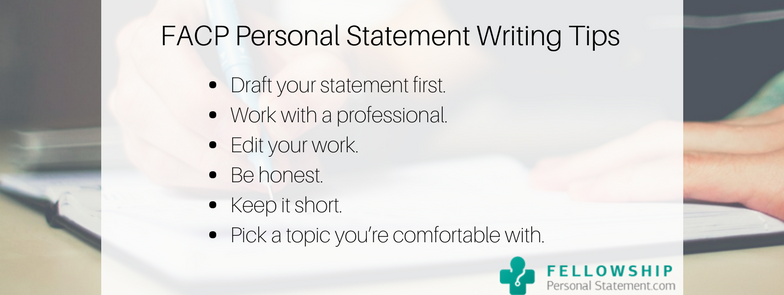 facp personal statement writing tips