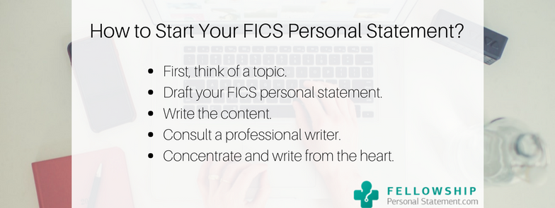 how to start your fics personal statement