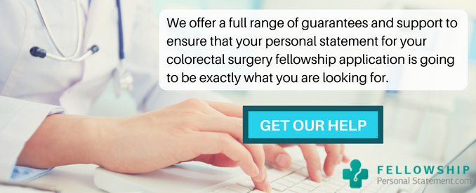 colorectal surgery fellowship personal statement