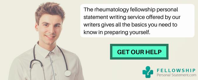 best rheumatology fellowship personal statement
